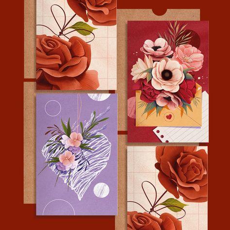 A coleção dia das mães será uma linha permanente, sempre disponível ao longo do ano e totalmente inspirada na paixão por flores. Qual seu preferido? #greetingcard #cartoesdepresente #cartoesilustrados #papelariaafetiva #papelaria #diadasmaes #diadasmaes2021 #presentecriativo #botanicalillustration
