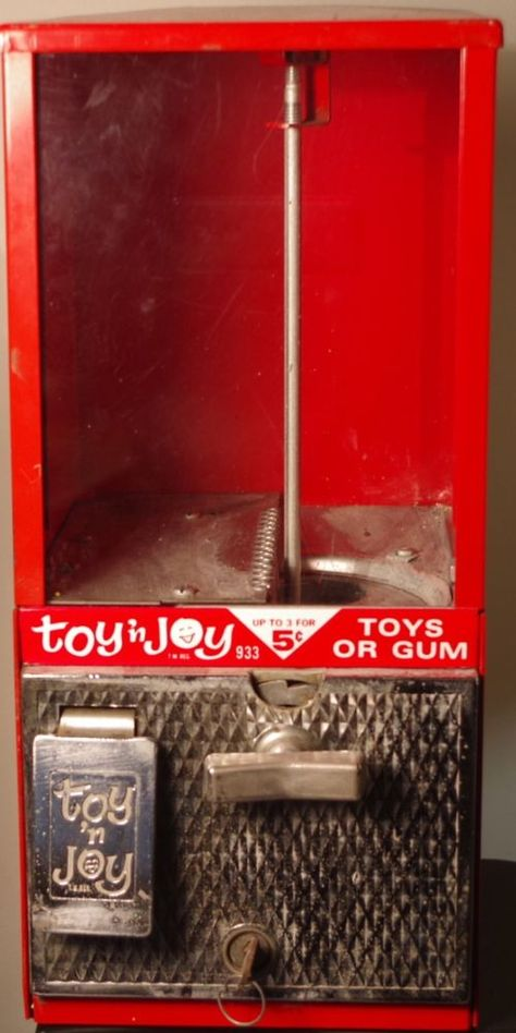 Candy Toy 1 Penny Machine Vintage Toy /'n Joy Gumball