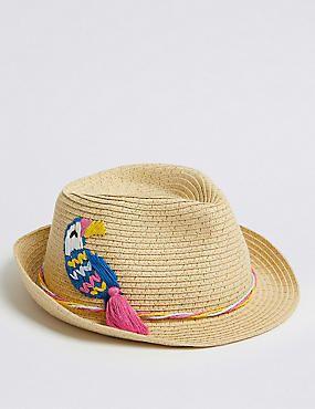4f93eda24 Sombrero Trilby infantil con aplique (3-14 años) | Hats | Trilby hat ...