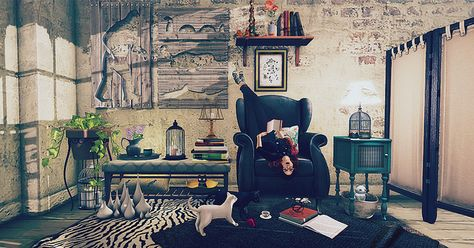 Second Life Interior Design Scene Featuring Cheeky Pea Culprit