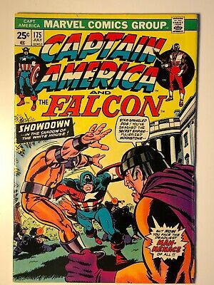 Details About Captain America 175 Marvel Value Stamp Intact 1974 Marvel Comics Fn Vf In 2020 Marvel Comics Comics Marvel
