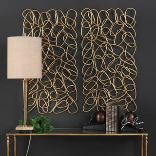 Uttermost In The Loop Gold Wall Arts Set Of 2 Iron Wall Decor