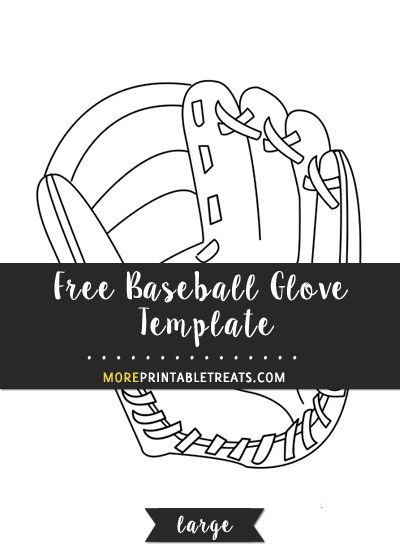 Free Baseball Glove Template Large Baseball Glove Sports