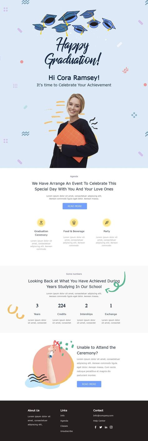 Celebrate your achievement - Email Template
