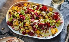 Winter Italian Chopped Salad Recipe Epicurious Com In 2020 Italian Chopped Salad Recipe Chopped Salad Recipes Italian Chopped Salad