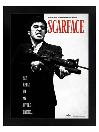 Delve Into A World Of Underground Drug Lords And Mafia Leaders With This Excellent Scarface Poster Scarface Movie Scarface Poster Indie Movie Posters