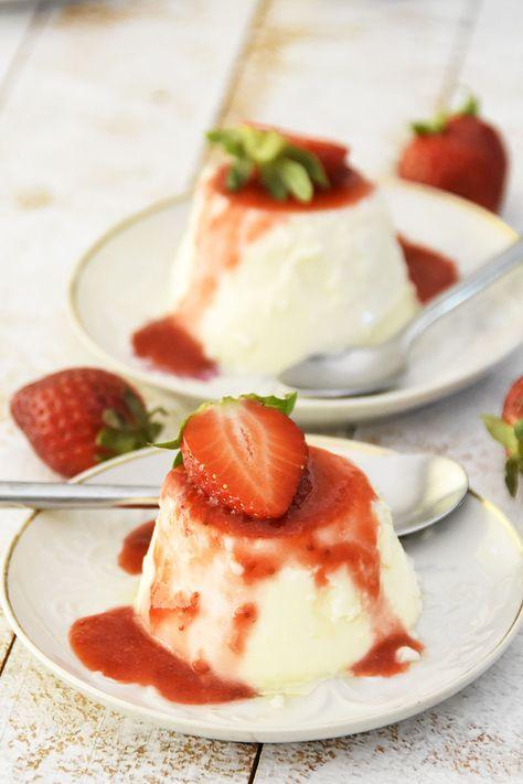 Pannacotta De Yogurt Con Salsa De Fresas Cook Expert Sin Lactosa
