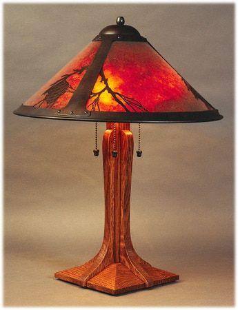 The Mica Lamp Company Pasadena Pinetree Lamp 045 Craftsman Lamps Table Lamp Table Lamp Shades