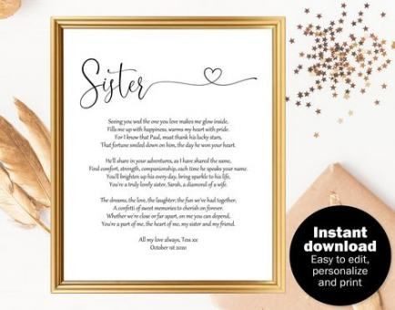 Trendy Wedding Day Gifts For Bride From Sister Ideas Wedding Gifts Sister Wedding Gift Wedding Day Gifts Bride Gifts