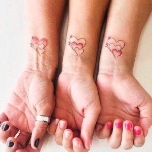Los mejores tatuajes para tres hermanas.