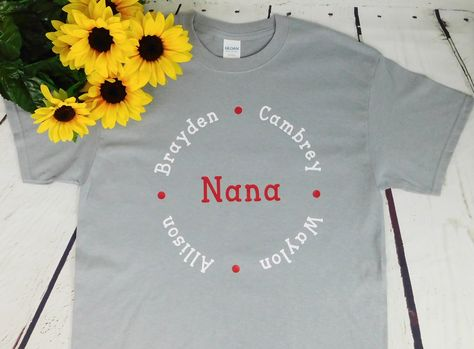 Nana Gift Grandparent Grandkids Names Shirt Custom Grandpa