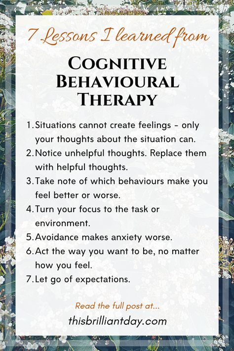 7 Lessons I Learned from Studying Cognitive Behavioural Therapy.