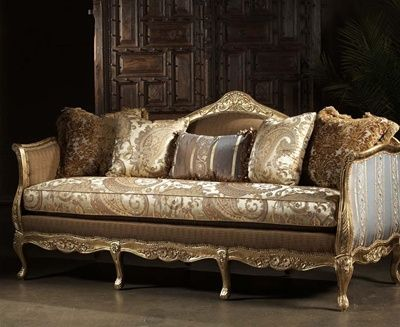French Style Sofa Leather and upholstered furniture High style leather and  fabric sofa | Have A Seat ... Chairs | Pinterest | French style sofa, ...