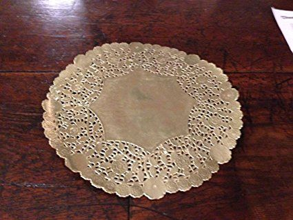 12 Gold Foil Doily 25 Count Wedding Charger Plate