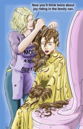 A Daughters Punishment Punishment Haircut Cartoon Hair Anime Haircut