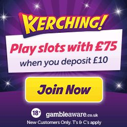 Deposit 10 Play With 75 With Our Kerching Promo Code With