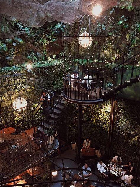 Travel: the most beautiful restaurants in the world – # Restaurant… – Terrasse ideen - Modern Deco Restaurant, Terrace Restaurant, Restaurant Ideas, Modern Restaurant, Concept Restaurant, Terrace Cafe, Garden Cafe, Outdoor Restaurant, Restaurant Design Concepts