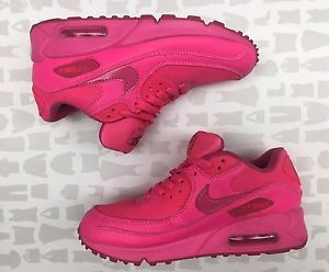 Nike Air Max 90 Womens Hyper Vivid Hot Pink Sneakers Size