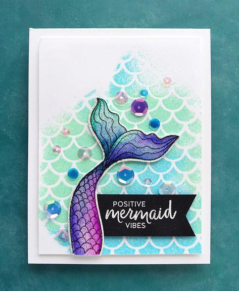 Mermaid Art Card Mermaid Art Card Children/'s Mermaid Card Natural Hair card Afro Mermaid Card Card for Kids Aqua Nursery Card