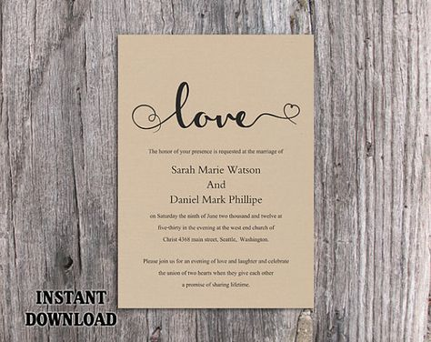 diy burlap wedding invitation template editable word file download printable rustic wedding invitation heart invitation elegant love invite by