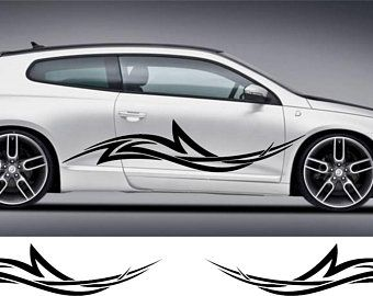 TRIBAL PINSTRIPING 80 X 6 CAR TRUCK SIDE GRAPHIC VINYL DECAL