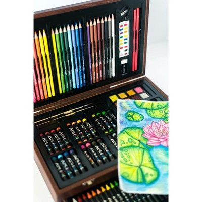 Art 101 Art Creativity Set In Wooden Case 142pc Art Sets For