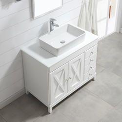 Ove Decors 40 W X 22 D White Aspen Vanity And Vanity Top With