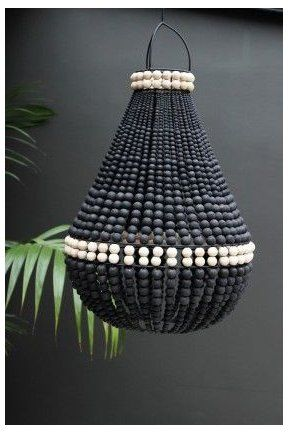 All Lighting Ceiling Lights Table Lamps Wall Lights Floor Lamps For Inside And Out Black Beaded La In 2020 Beaded Lampshade Wood Bead Chandelier Diy Chandelier