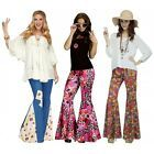 Details about bell bottoms flared pants adult hippie costume halloween fancy dress