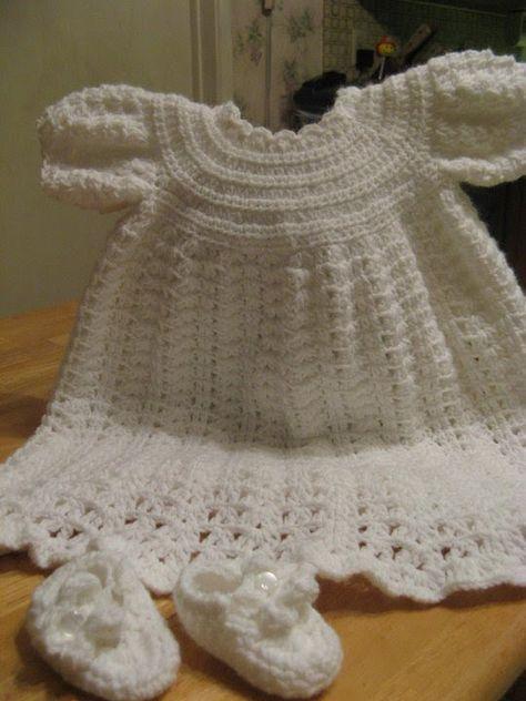 Crochet  Christening Gown -   Video 1