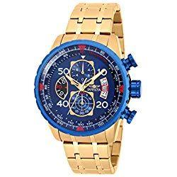 Consigue Tu Reloj Invicta Dorado Al Mejor Precio Del Mercado Calidad Y Garantía De Amazon No Te Preocupes Por Gold Watch Gold Watch Men Mens Fashion Watches