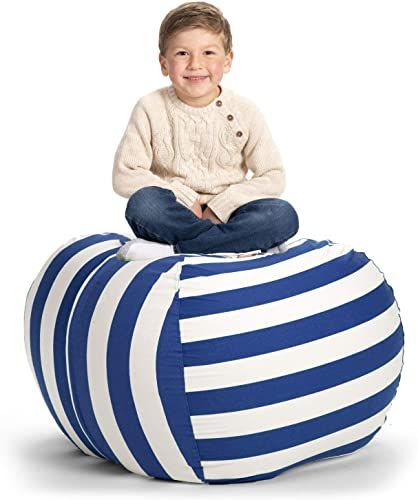 Amazing Offer On Creative Qt Stuffed Animal Storage Bean Bag Chair Extra Large Stuff N Sit Organization Kids Toy Storage Available Variety Sizes Colors 38 In 2020 Bean Bag