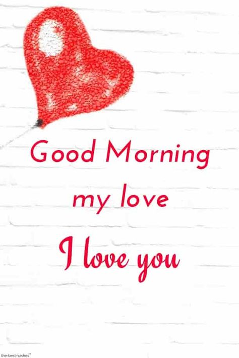 Good morning my love I love you picture.