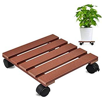 Heeler 13 Brown Plant Caddy2 Pack of Plant Pallet Caddy with Wheels Round Flower Pot Mover Indoor Rolling Planter Dolly on Wheels/Â/¼/Ë/†2 Pack/â/€/°