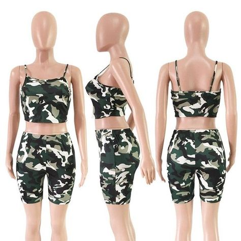 Tank Top Shorts or Tank Top//Short Set in Camouflage patterns.