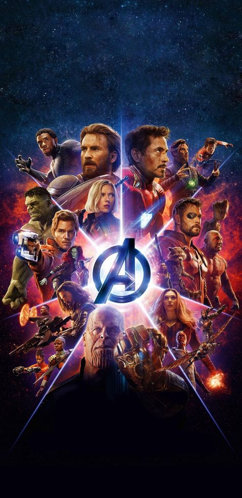 My favorite Avengers Infinity War Poster, Optimized for Long Mobile Backgrounds