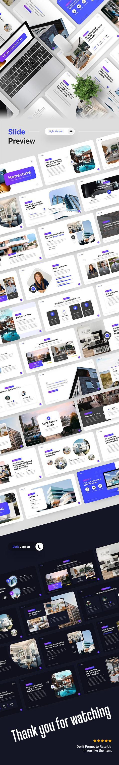 Honestate - Single Property & Real Estate Keynote Template