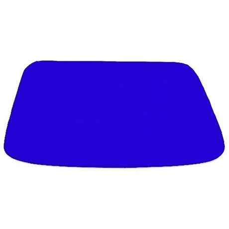 Solid Cobalt Blue Bathmat By The Shower Curtain Black Shower