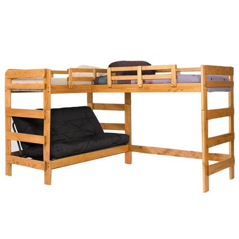 Twin Over Full L Shaped Bunk Bed Bedroom Ideas Pinterest Bunk