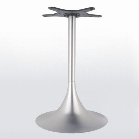 Pied De Table Central Tulipe Rond Chrome Ou Inox Hauteur 740 Ou