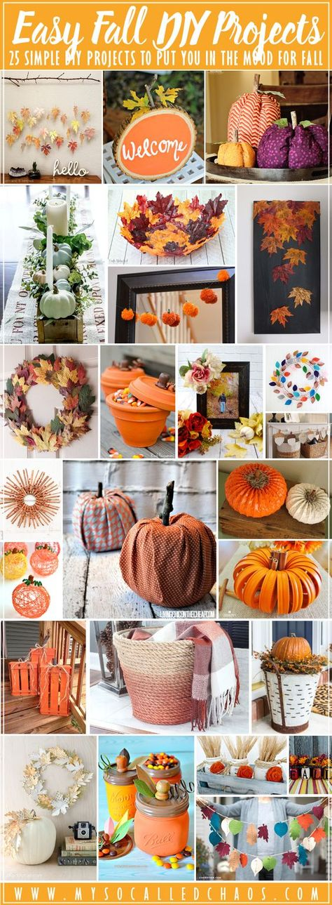 25 Easy Fall DIY Projects to Put You in a Fall Mood - My So-Called Chaos