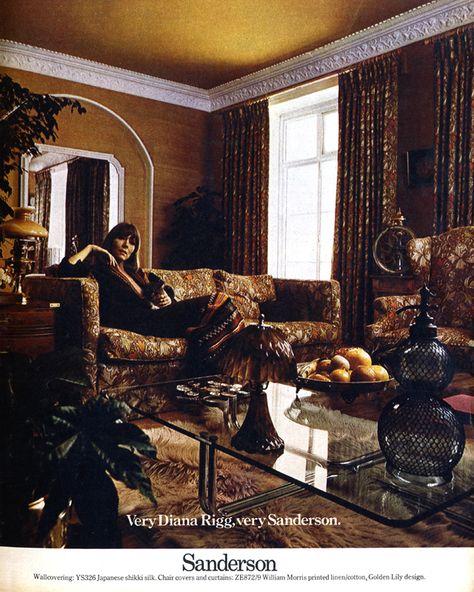 Very Diana Rigg, very Sanderson | Vintage, Diana, Old ads
