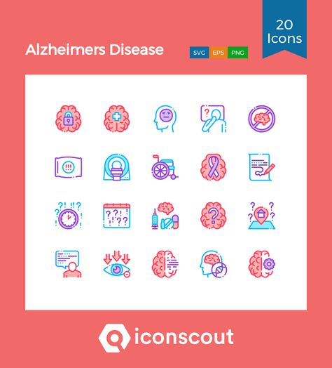 Download Alzheimers Disease Icon pack - Available in SVG, PNG, EPS, AI & Icon fonts