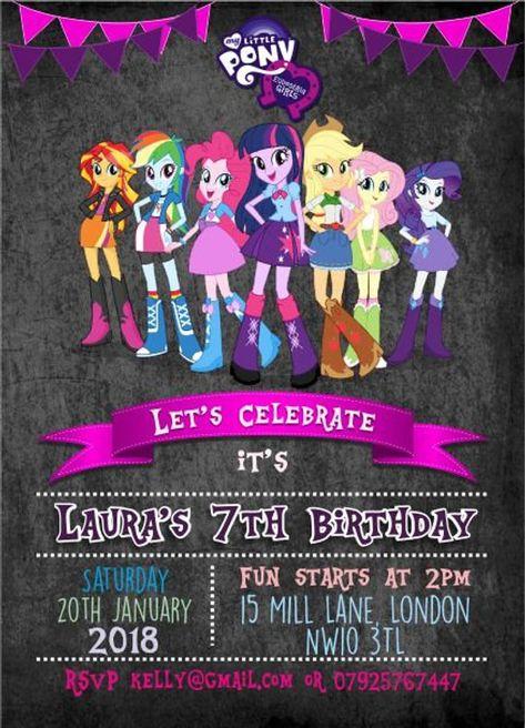 Downloadable Personalised Customised Birthday Invitations Or