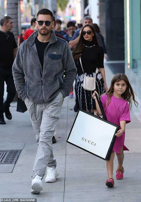 Cuties! Penelope Disick goes on a shopping spree with dad Scott at the Gucci store in Beverly Hills. Looks like she bought a pair of GUCCI pink princetown slip on GG shoes. Looks like GUCCI is a favorite of little fashionista Penelope! Shop GUCCI Kids Spring Summer 2019 Collection. #gucci #guccikids #penelopedisick #kardashians #kourtneykardashian #scottdisick