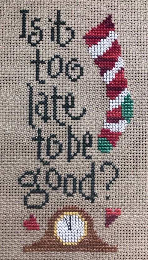 "Vintage Dimensions Banners /""Is It Too Late To Be Good/"" CrossStitch Kit Christmas"
