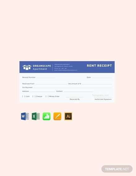 Free Rent Receipt Template Pdf Word Apple Pages Receipt Template Financial Apps Free Receipt Template