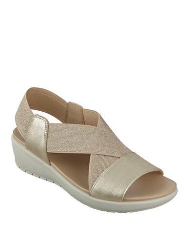 5031e66eaa Amazon.com   Clarks Women's Auriel Till Wedge Sandal, White, 10 W US    Platforms & Wedges
