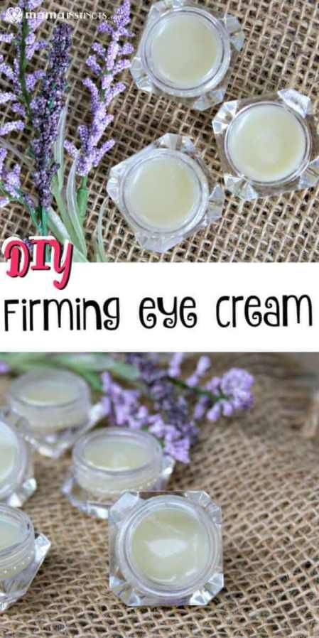 DIY Firming Eye Cream – Mama Instincts® This easy-to-make firming eye cream is perfect to use year round. It has anti-aging properties, non-toxic ingredients. It improves the appearance of your skin and reduces under eye circles. Anti Aging Cream, Anti Aging Skin Care, Natural Skin Care, Natural Eye Cream, Diy Cosmetic, Diy Beauty Hacks, Firming Eye Cream, Natural Living, Etude House