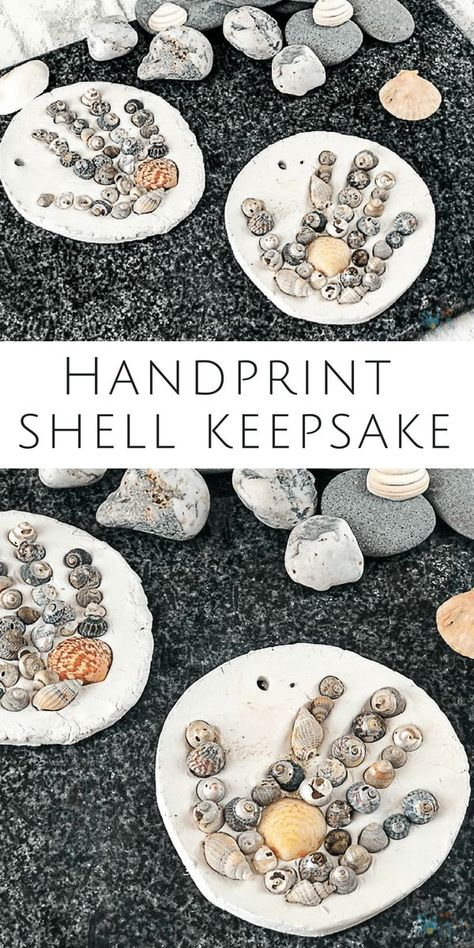 Arty Crafty Kids | Craft | Handprint Seashell Keepsake Summer Craft for Kids #summercraft #kidscraft #handprintcraft #craftsforkids #summercraftsforkids #beachcraftsforkids #beachcrafts